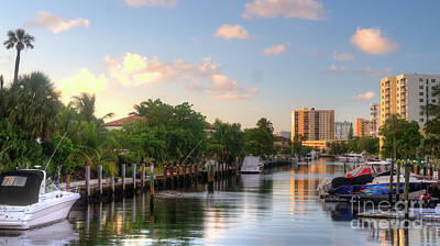 Photograph - South Florida Canal Living by Ules Barnwell