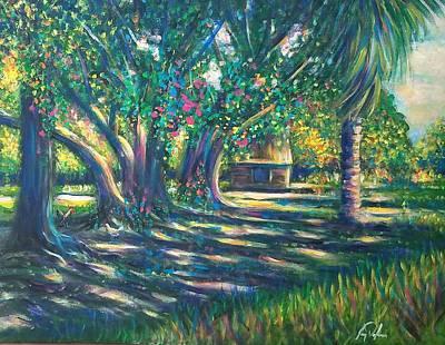 Punta Gorda Painting - South Florida Water Bied by Larry Palmer