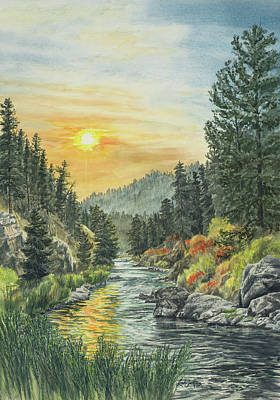 White Water Rafting Painting - South Fork Sunrise by Link Jackson