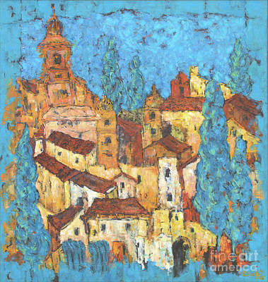 Wall Art - Painting - South France by Marcela Levinska