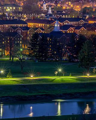 Ou. Ohio University Photograph - Ohio University South Green At Dusk by Robert Powell