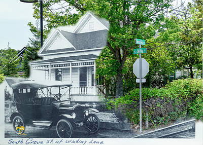 Photograph - South Grove Street At Winding Lane by Jim Thompson