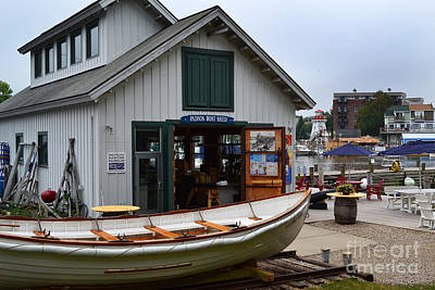 Photograph - South Haven Boat Shed  by Amy Lucid