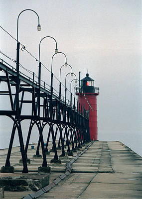 Photograph - South Haven Light, Michigan by Kenneth Campbell