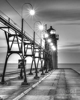 South Haven Light Art Print by Twenty Two North Photography