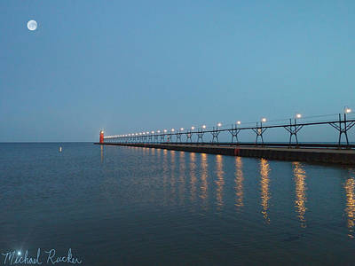 Photograph - South Haven Lighthouse by Michael Rucker