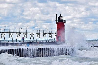 Photograph - South Haven Lighthouse by Nicole Lloyd