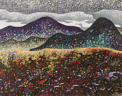 Abstract Landscape Drawings - South Helena #1 by Dale Beckman