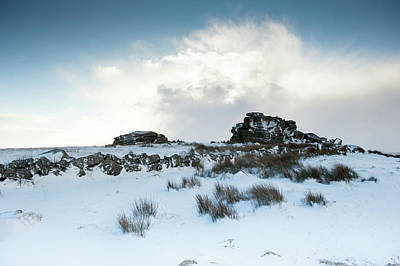 South Hessary Tor In The Snow II Art Print