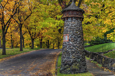 Photograph - South Hill Stone Pillars In Fall by Mark Kiver