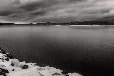 Photograph - South Holston Snow Bandw by Jonathan Grim