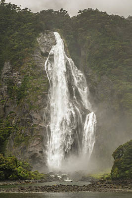Photograph - South Island Waterfall by Racheal Christian