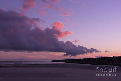 Central Oregon Coast Photograph - South Jetty At Sunset by Masako Metz