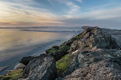 Photograph - South Jetty Into The Dusk by Greg Nyquist