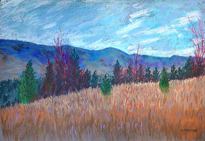 Pastel - South Kelowna Vista by Marina Garrison