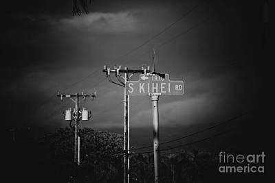 Photograph - South Kihei Road Street Sign Maui Hawaii by Sharon Mau