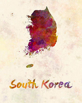 Korean Painting - South Korea In Watercolor by Pablo Romero