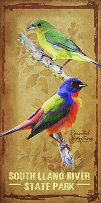 Bunting Digital Art - South Llano River State Park by Jim Sanders