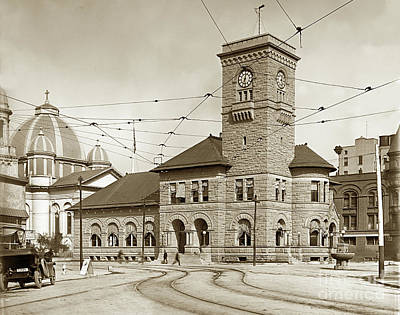 Photograph - South Market Street, Looking At  Post Office Buildingand  St. J by California Views Mr Pat Hathaway Archives