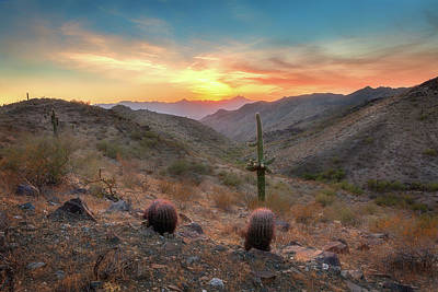 Photograph - South Mountain Sunset by David Cote
