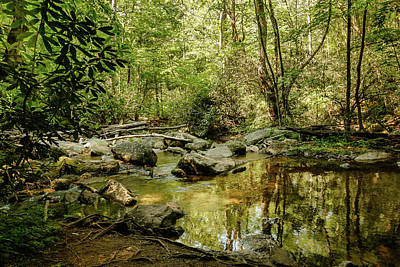 Photograph - South Mountains River Glass by Joni Eskridge