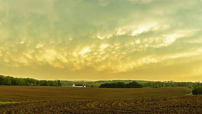 Photograph - Thunder Storm Over A Pennsylvania Farm by Jason Fink