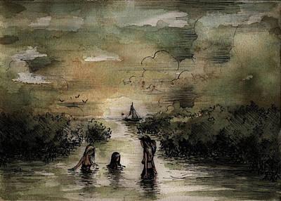 Painting - South Of Key Largo I by Rachel Christine Nowicki