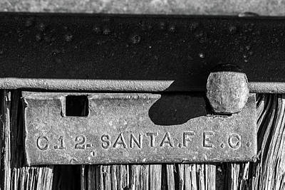 Photograph - South Orient Railroad Tie Plate by SR Green