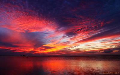 Photograph - South Padre Sunset #1 by Susan Vineyard