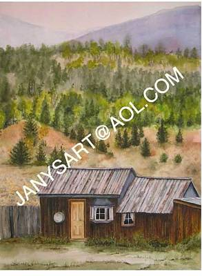 Painting - South Park Ghost Town Fairplay Colorado by Jany Schindler