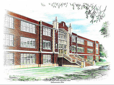 Drawing - South Park High School by Randy Welborn