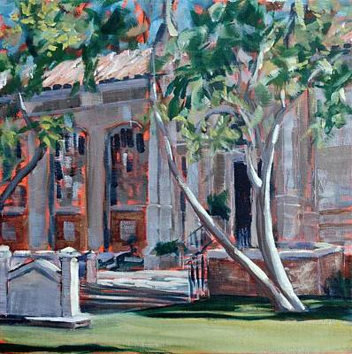 Painting - South Pasadena Library by Richard Willson