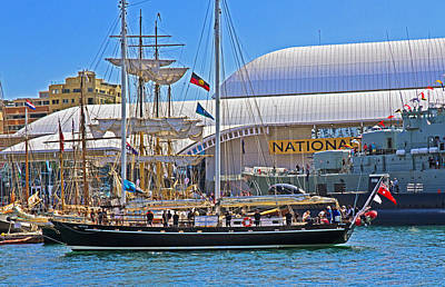 Photograph - South Passage Arrives In Darling Harbour by Miroslava Jurcik