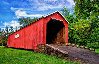 Photograph - South Perkasie Covered Bridge by Carolyn Derstine