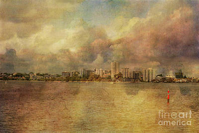 South Perth Skyline, Western Australia Art Print by Elaine Teague