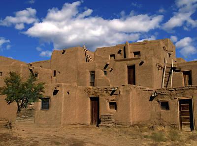 South Pueblo Taos Art Print by Kurt Van Wagner