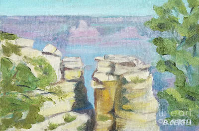 Painting - South Rim, Grand Canyon 3 by Barbara Oertli