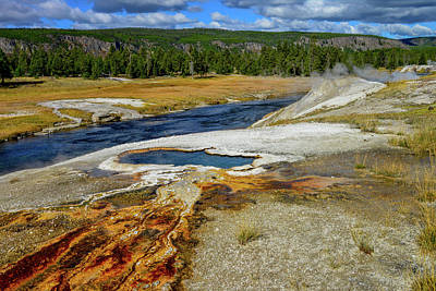 Photograph - South Scalloped Spring, Yellowstone by Marilyn Burton