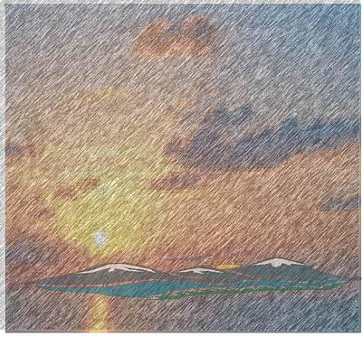 South Seas Storm Original by Barbara ann cohen Cohen