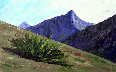 Painting - South Side Of O'malley Peak by Burton Hanna