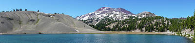 Photograph - South Sister Moraine Lake Oregon Panorama by Lawrence S Richardson Jr