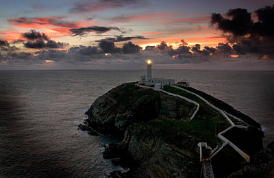 Photograph - South Stack At Sunset by Peter OReilly