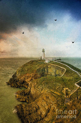 Navigation Digital Art - South Stack Lighthouse by Ian Mitchell