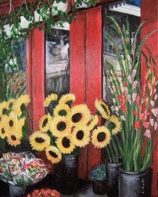 Painting - South Street Flowers by Laura Aceto