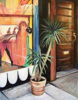 Painting - South Street Reflections by Laura Aceto