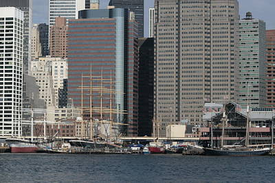Photograph - South Street Seaport From Brooklyn by Christopher Kirby