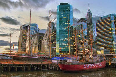 Photograph - South Street Seaport by Mitch Cat