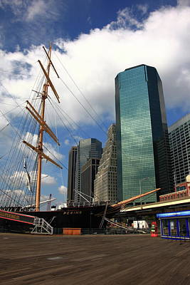 Photograph - South Street Seaport - New York City by Frank Romeo
