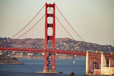 Bay Bridge Photograph - South Tower Telephoto by Hugh Stickney