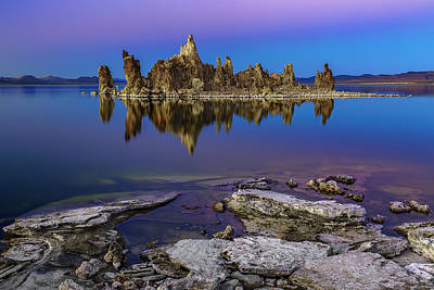 Photograph - South Tufa At Sunset by PhotoWorks By Don Hoekwater